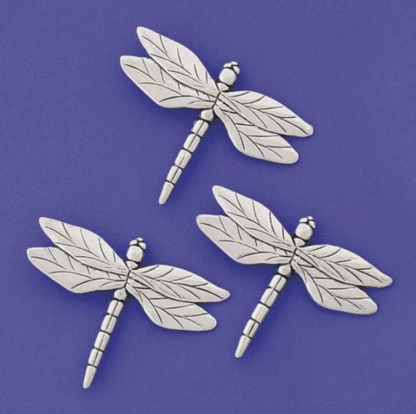 Triple Dragonfly Pewter Magnets
