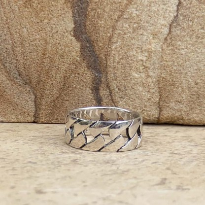 Sterling Silver Woven Ring