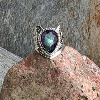 Mystic Topaz & Sterling Ring