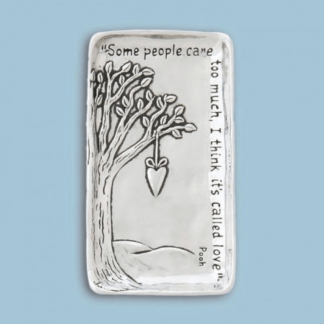 Pooh Love Pewter Tray