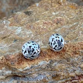 Silver Ajoure Stud Earrings