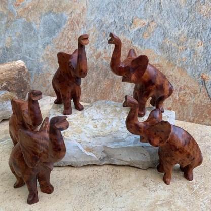 Moroccan Thuya Wood Elephants