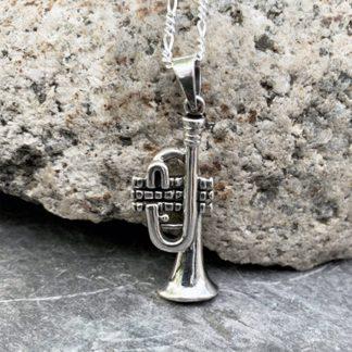 Sterling Silver Trumpet Pendant