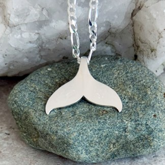 Sterling Whale Tail Pendant