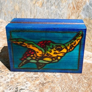 Handcrafted Sea Turtle Box