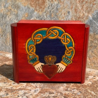 Claddagh Box with Secret Lock