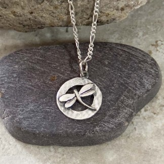 Dragonfly in Sterling Pendant