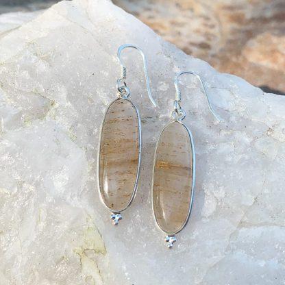 Golden Rutile Drop Earrings