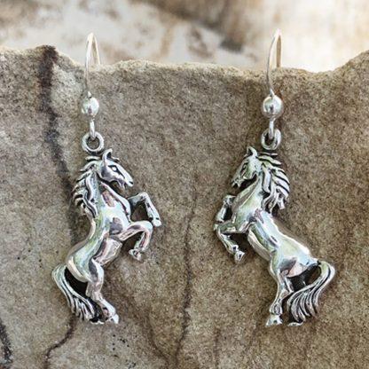 Sterling Silver Horse Earrings