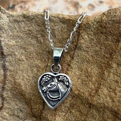 Sterling Horse Heart Pendant