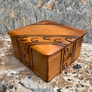 Wooden Horseshoe Box