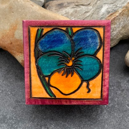 Handcrafted Pansy Box