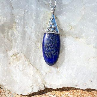 Lapis Lazulis & Sterling Pendant