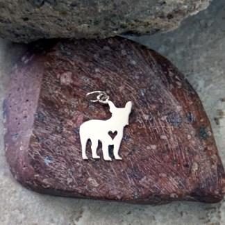 Sterling French Bulldog Pendant/Charm