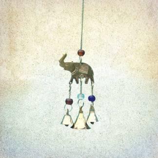 Elephant Brass & Beads Chime