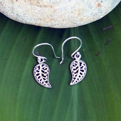 Sterling Fairy Leaf Earrings
