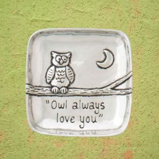 Owl Love Pewter Tray