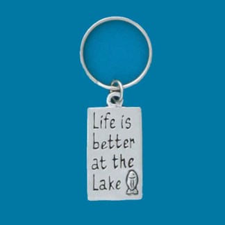 Lake Life Pewter Keychain