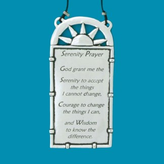 Pewter Serenity Wall Plaque