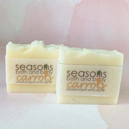 Organic Handcrafted Carrot Soap Bar