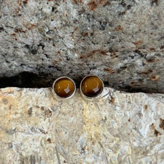 Tiger Eye Classic Stud Earrings