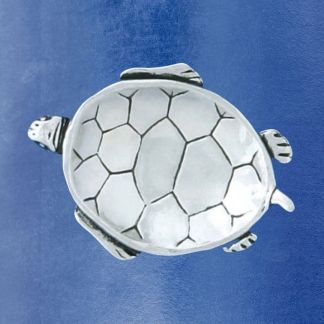 Pewter Turtle Charm Bowl