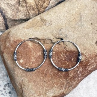 Bali Sterling Hoop Earrings