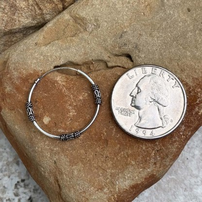 Bali Sterling Hoop Earrings