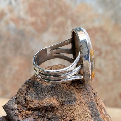 Bumblebee Jasper Sterling Ring