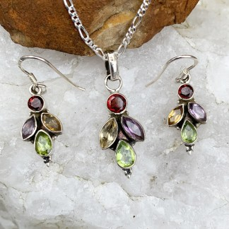 Multi Gemstone Jewelry Set