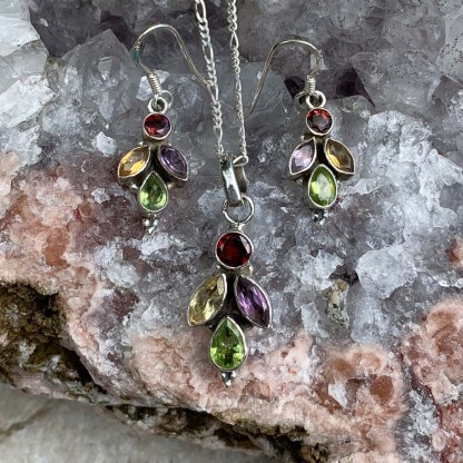 Multi Gemstone Jewelry Set