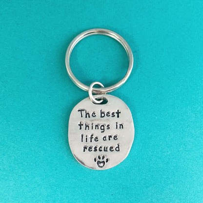 Animal Rescue Pewter Keychain