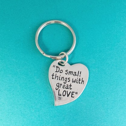 Small Things Pewter Keychain