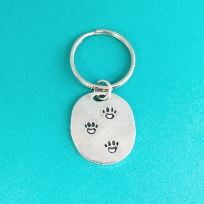 Pewter Keychain-Animal Rescue