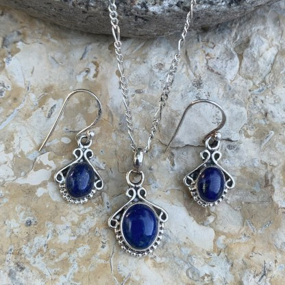 Lapis Lazuli Sterling Set