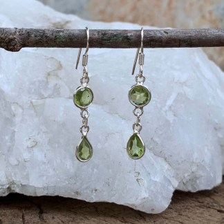 Peridot Sterling Dangle Earrings