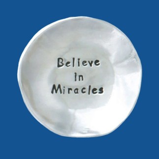 Pewter Miracles Charm Bowl