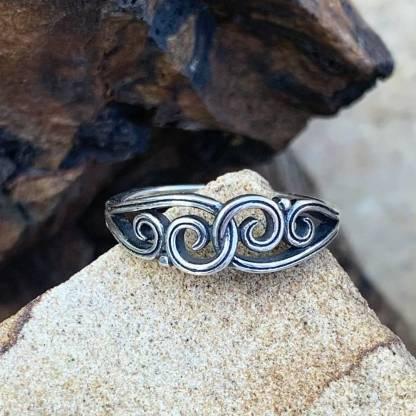 Interlocking Swirls Sterling Ring