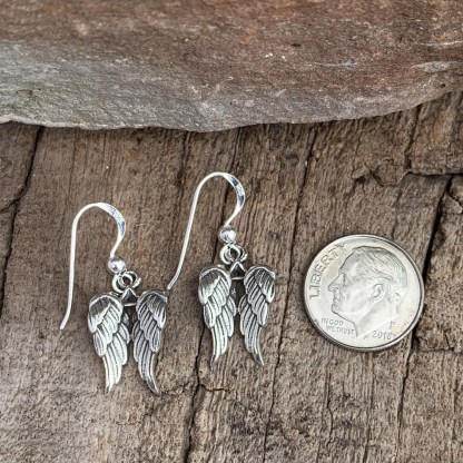 Sterling Angel Wing Earrings