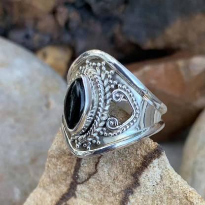 Black Onyx Marquise Ring