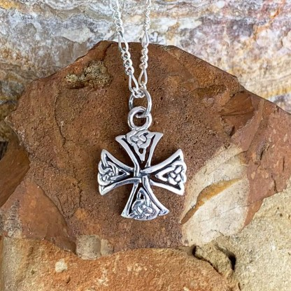 Sterling Canterbury Cross Pendant