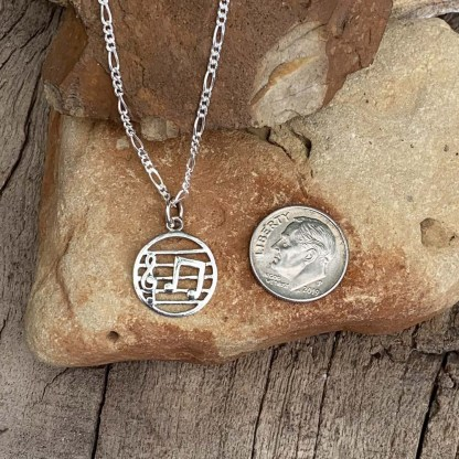 Sterling Music Theme Pendant