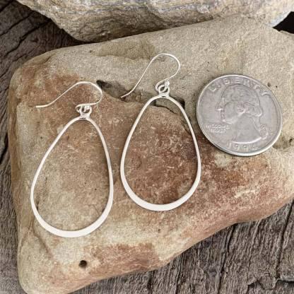 Sterling Pear Shape Earrings