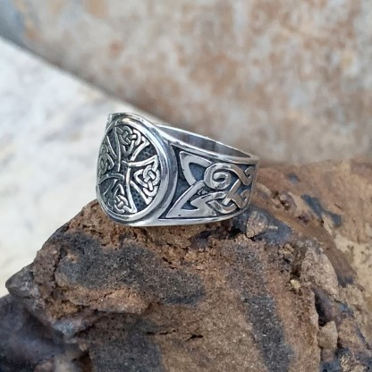 Sterling Canterbury Cross Ring