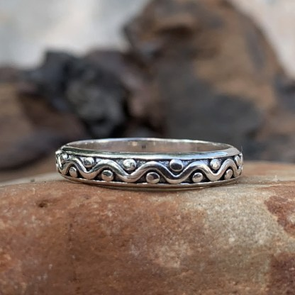 Sterling Silver Waves Band