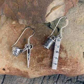 Sterling Silver Seamstress Earrings