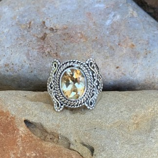 Romantic Sterling Citrine Ring