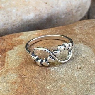 Sterling Infinity Multi-Hearts Ring