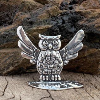 Owl Pewter Ring Holder