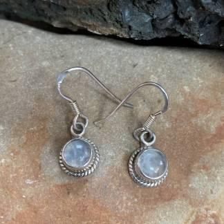 Petite Rainbow Moonstone Earrings